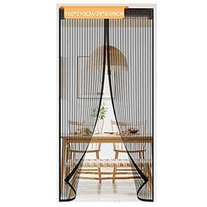 Magnetic Screen Door Mesh Curtain,Easy Install Screen Door Magnetic Door Screen Fiberglass Pet Friendly Sliding Door Screen Door Mesh Door Screen Door Net(b)