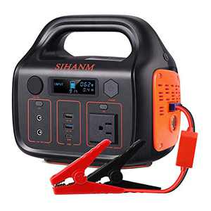 SIHANM 266Wh 72000mAh Portable Power Station Explorer with Jump Starter Function, 110V/300W Pure Sine Wave AC Outlet Backup Lithium Battery for Camping Travel and Emergency Outdoor Generators