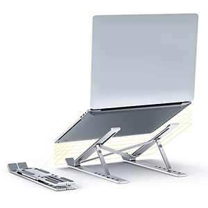 Laptop Stand Portable Foldable Adjustable Laptop Riser for Desk Aluminum Notebook Ipad Stand Riser Ergonomic Desktop Holder Folding Compatible with Dell,MacBook,iPad,HP,Lenovo 10-15.6 inch