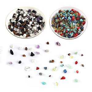 Natural Stones Round Loose Beads 6-8mm Irregular Stone Smooth Beads for Bracelet Jewelry Making Decor DIY Crafts