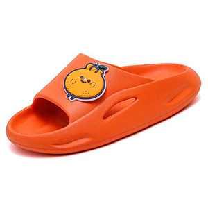 UBFEN Kids Shower Slides Boys Girls Sandals Beach Pool Non-Slip Slippers Summer Water Shoes(Toddler/Little Kid/Big Kids Orange