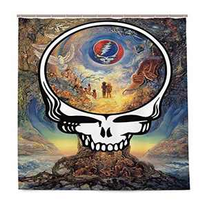WINTERSUNNY Dead Skull Shower Curtain 72X79 InchTree of Peace with Skull Decoration Easy Care Cloth Bathroom Shower Curtain for Bathroom Showers & Bathtubs,with 12 Hooks