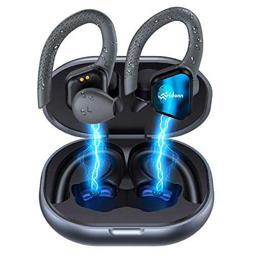 True Wireless Earbuds Bluetooth Headphones- Vidonn Running Headphones Wireless Earphones with Touch Control TWS, Over-Ear Sport Earbuds with Charging Case IP65 Waterproof Headset for Running Workout