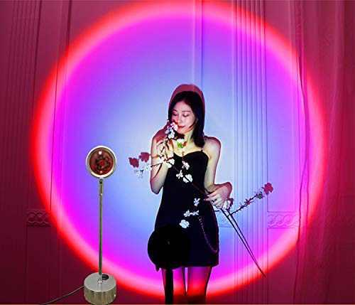 Rainbow Projection Lamp 180 Degree Rotation 12.6 inch Rainbow Light Lamp Projector, Rainbow