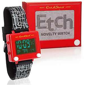 Mighty Mojo Etch-A-Sketch Digital Collectors Watch - Officially Licensed - Stainless Steel Watch - Pop Culture Retro 90's