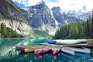 Jigsaw Puzzles for Adults 1000 Piece-Moraine Lake(Banff National Park) High-Definition Abstract Art Large-Scale Decompression Puzzle-27.6 Inches Long X19.7 Inches Wide