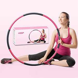 Beakabao Exercise Weighted Hoops for Adults and Kids, Adjustable 8 Sections 2lb Detachable Professional Soft Fitness Hoop, Weight Loss Core Strength Workout Sport Hoop