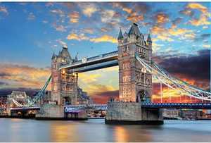 Puzzles for Adults Jigsaw Puzzles 1000 Pieces for Adults Kids– Tower Bridge Landscape Large Jigsaw Puzzle Artwork Intellective Educational Toy