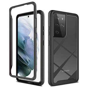 """Case for Samsung Galaxy S21 Ultra, Without Built-in Screen Protector Shockproof Heavy Duty 360°Full Body Protection Rugged Clear Cover Cases for Galaxy S21 Ultra 6.8"""" 5G 2021-1"""