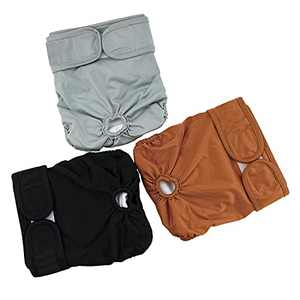 YOYAKER Reusable Dog Diapers 3 Pack Dog Pants for Small Dogs Pet Incontinence and Long Travels