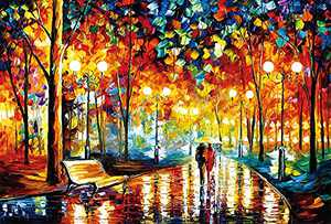 Puzzles for Adults Jigsaw Puzzles 1000 Pieces for Adults Kids Intellectual Game Learning Education Decompression Toys - Walking in The Rain Night