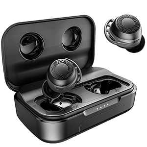 Wireless Earbuds Bluetooth, AMINY U-Air6 Sport Bluetooth Earphones IPX8 Waterproof Inear Bluetooth Earbuds Wireless Headphones, 100Hrs Playtime Touch Control Wireless Earphones Built-in Mic