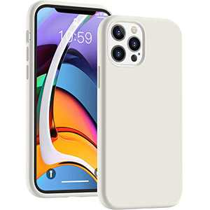 Cucell Compatible with iPhone 12 Case iPhone 12 Pro Cases 6.1 inch(2020),Liquid Silicone Gel Rubber Full Body Protection Shockproof Durable Drop Proof -White