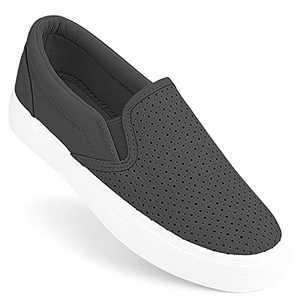 JENN ARDOR Slip on Sneakers for Women Comfortable Walking Shoes Memory Foam Loafers