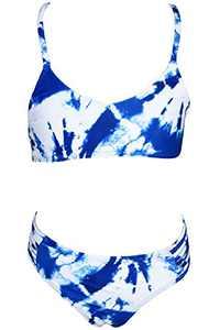Loncoco Little Girl Swimsuits Two Piece Swimwear Straps Sleeveless Bathing Suit Kids Tankini Size 5