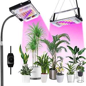 Plant Grow Lights with Stand, LED Grow Lights for Indoor Seedlings Plants with Dimmable Switch, Standing Floor Grow Lamp with Full Spectrum, Adjustable Tripod Stand 15-64 Inches