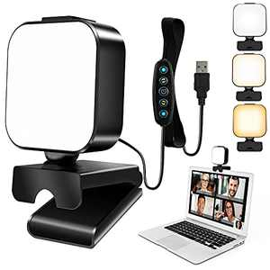 UooEA Video Conference Lighting, Compact Webcam Light for Zoom Meeting and Gaming Streaming, 5 Light Modes & 6 Brightness, Easily Mounted on Computer Monitor, Laptop, Desk