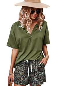 CORSKI Womens Short Sleeve 2 Piece Tracksuit Casual Sweatsuits Sets Leopard Jogging Shorts and Loose Fit Shirt Army Green S