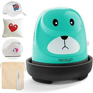 Mini Easy Heat Press, iSTOYO Mini Puppy Heat Press Machine (Celadon) - Excellent for Tshirts Design Shoes Hats and Small Heat Transfer Vinyl Projects, Portable and Easy to Store