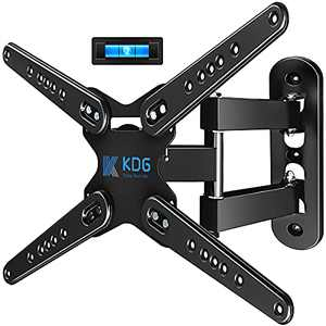 KDG Full Motion TV Wall Mount for 28-80 Inch LED LCD Flat Curved Screen TV, TV Mount Swivel and Tilt with Articulating Arm, Wall Mount TV Bracket with VESA Up to 600x400mm-Weight Capacity Up to 110lbs