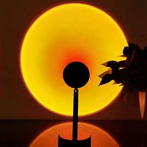 Sunset Light Projection 10W LED Night Light ,180 Degree Rotation Sunset Lamp, Night Light Projector LED Lamp for Photography/Selfie/Home Party/Living Room/Bedroom Decor