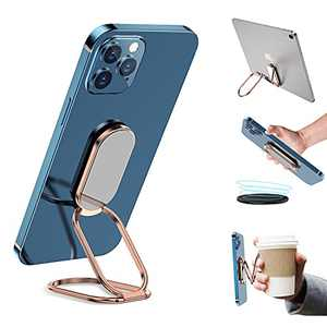 Cell Phone Ring Holder Finger Kickstand 360°Rotation Ultra-Thin Phone Back Grip Foldable Phone Stand for Magnetic Car Mount Compatible with iPhone Any Smartphone Small Laptop and Tablet