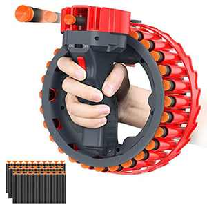 allcaca Electric Toy Gun for Nerf Gun Games with 28 Soft Foam Refill Darts Bullet - Rechargeable Blaster Guns Toy for Boys Girls Teens Birthday Xmas Gifts