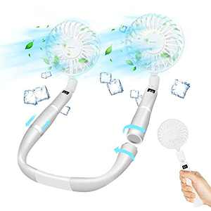 Portable Neck Fan,Rechargeable Personal Fan, Mini Handheld USB Fan Desk Fan,4000mAh Quiet Fan for Women Men for Home Office Travel Outdoor