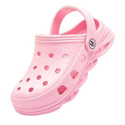 Kids Clogs Home Garden Slip On Water Shoes for Boys Girls Indoor Outdoor Beach Sandals Children Classic Slippers Pink, 1 Little Kid