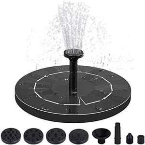 Solar Fountain Pump, Solar Powered Water Fountain with 6 Nozzles, Floating Solar Pond Pump for Bird Bath, Garden, Pond, Pool and Fish Tank