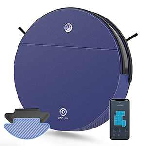 OKP K3 Robot Vacuum and Mop, Robot Vacuum with Self-Charging and 2000pa Strong Suction,Robotic Vacuum Cleaner with Detachable Mopping Pad for Hardfloor and Carpet