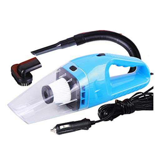 NOOX Portable Handheld High Power Car Vacuum Cleaner 120W 4000pa with Cigarette Plug, Cleaning Pet Hair, Soot, Bread Crumbs Dust in Car VC540 - Blue