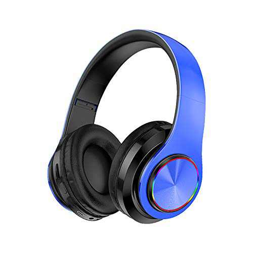 ASOT, Wireless Bluetooth Headphones with Noise Cancelling Over Ear Stereo Earphones Blue