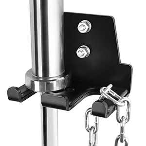 BRTGYM Barbell Holder Wall Mount Vertical Storage for Concrete Wall Wood Stud, 176lbs Weight Capacity, Heavy-Duty Black Coated Steel(Mounting Hardware Included)