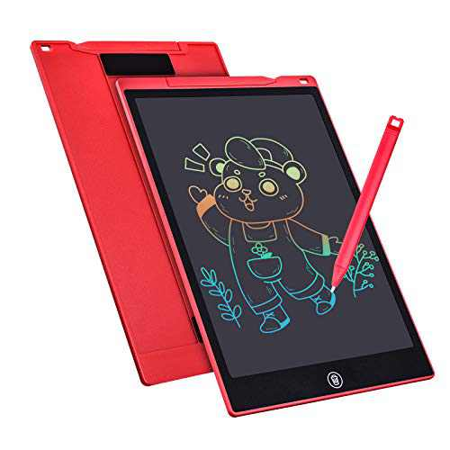 LCD Writing Tablet 12 Inch Colorful Drawing Tablet for Kids, 4~12 Girls Toys Gifts Erasable Reusable Writing Pad, Educational Christmas Brithday Toy for Children Doodle Board (Red)
