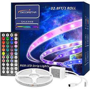 Led Lights for Bedroom, DecorStar 32.8ft Color Changing Led Strip Lights with 44 Keys Remote Control , 5050 RGB Led Lights for Bedroom Kitchen Party Home Decoration(1 Roll)