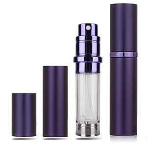 Perfume Atomizer Refillable,Portable Perfume Bottle Travel Cologne Atomizer,Mini Scent Pump Case Empty Bottom Refill Perfume Dispenser Container-Blue