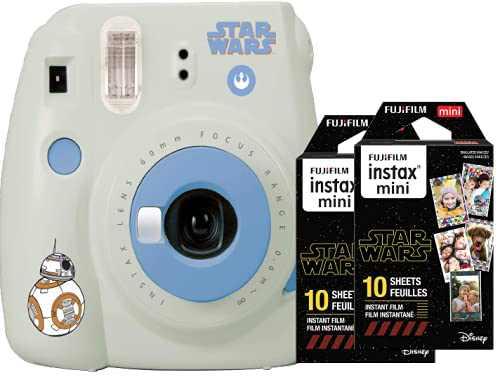 Fujifilm Instax Mini 9 Star Wars Instant Camera + Bonus Double Pack Instax Film (2 x 10 Exposures, Short-Dated - Expires June 2021)
