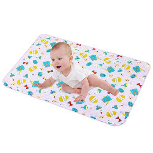 """LANEYLI Portable Changing Pad for Baby Diaper Changing Pad Washable Breathable Leak Proof Changing Mat for Diaper Bag Home Travel Bed Play Stroller Crib Car Red(19.7"""" x 27.5"""")"""