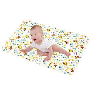 """LANEYLI Portable Changing Pad for Baby Diaper Changing Pad Washable Breathable Leak Proof Changing Mat for Diaper Bag Home Travel Bed Play Stroller Crib Car Yellow(29.5"""" x 39.0"""")"""