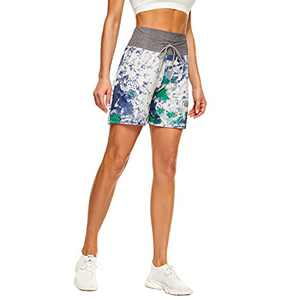 """QGGQDD 5"""" Casual Shorts for Women – Workout Yoga Lounge Summer Pajama Bottoms Athletic Shorts Sky Blue"""