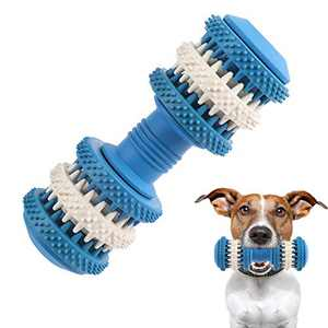 SonneMond Dog Chew Toys for Aggressive Chewers Small Medium Breed, Natural Rubber Puppy Chew Toys for Training and Cleaning Teeth, Indestructible Interactive Pet Dental Chew Toy (Mint Blue)