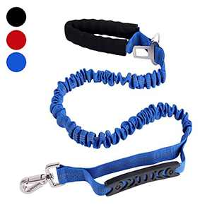 SonneMond 6Ft Bungee Dog Leash for Large Breed Dogs, Tactical Dog Leash, Blue Reflective Shock Absorbing Leash with Soft Padded Handle and Traffic Handle for Control Safety and Military Training