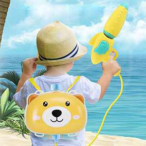 ASOT Children's Backpack Water Bomb Toy Pull-Out Beach Play Water Spray Bomb Feature (Multicolor)