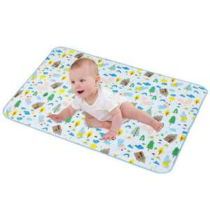 """LANEYLI Portable Changing Pad for Baby Diaper Changing Pad Washable Breathable Leak Proof Changing Mat for Diaper Bag Home Travel Bed Play Stroller Crib Car Blue(29.5"""" x 39.0"""")"""