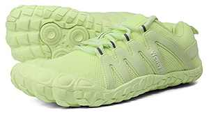 Trail Running Shoes for Women Minimalist Barefoot Shoes Low Zero Drop 4.5 Five Fingers Wide Toe Box for Female Lady Runner Pilates Hiking Green US Size 9 9.5