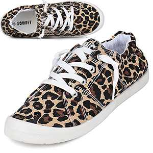 Sowift Women's Low Top Canvas Fashion Slip On Sneaker Casual Walking Shoes