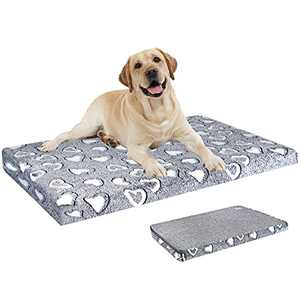 """VANKEAN Dog Bed Reversible (Cool&Warm),Stylish 42"""" Pet Bed Mattress, Water Proof Linings, Removable Machine Washable Cover, Firm Support Pet Bed for X-Large Dogs up to 90lbs,Light Grey"""