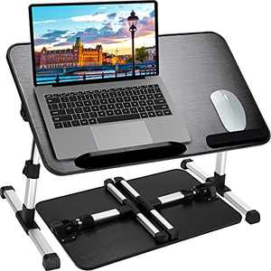 Lap Desk for Laptop, Adjustable Laptop Bed Tray Table, Foldable Laptop Stand for Home Office Desk, Portable Standing Computer Desk for Recliner with Gaming, Writing, Eating,Reading in Couch, Sofa, Bed