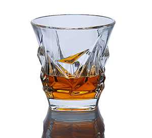 Paysky Bourbon Glasses Set of 4 Whiskey Glasses Set 4 ,a Whiskey lover' s gift ,The Crystal glass with elegant box (luxury whiskey glasses 4)